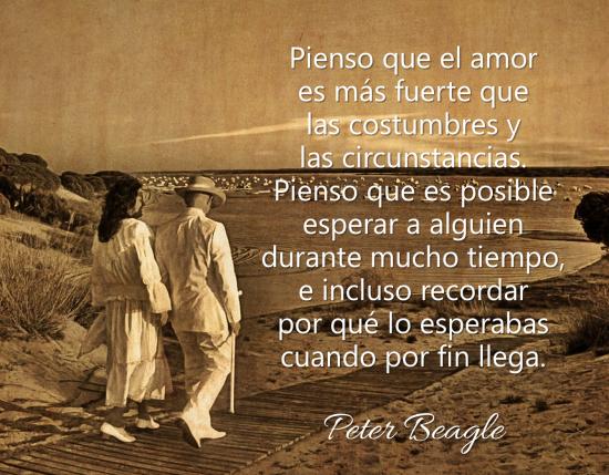 frase sobre el amor peter beagle